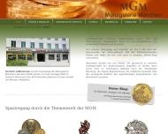 Bild Webseite Münzgalerie München MGM Handels München