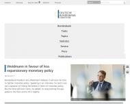 Bild Webseite Deutsche Bundesbank Frankfurt