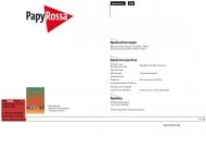 Bild Webseite PAPYROSSA Verlags Köln