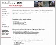 Website Drewer Immobilien und Hausverwaltung