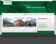 Bild Webseite PERFEKT - BAU Leipzig