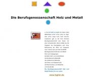 Bild Webseite Holz-Berufsgenossenschaft München