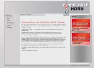Bild Webseite Horn Dagmar Fahrschule Berlin