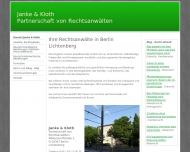 Bild Webseite Rechtsanwälte Janke & Kloth Berlin