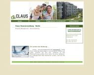 Bild Webseite Claus Berlin