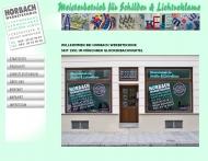 Bild Webseite Horbach Werbetechnik München