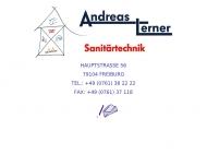 Bild Webseite Sanitär Lerner Andreas Freiburg im Breisgau