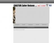 Bild Webseite Reisebüro CAG TUR ZAFER Reisen Türkei Spezialist Augsburg