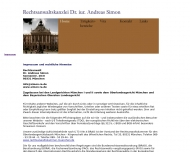 Website Rechtsanwalt Dr. iur. Andreas Simon