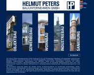 Bild Webseite Helmut Peters Bauunternehmen Hamburg