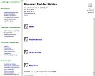 Bild Webseite Ramezani  Rad Mahmood Dipl.-Ing. Architekt Berlin