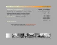 Bild Webseite Knopp Architekten Werner Knopp Dipl.-Ing. Freier Architekt Stuttgart