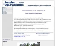 Bild Paradies + Klaaßen GmbH