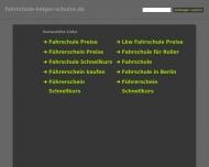 Bild Webseite Schulze Holger Fahrschule Berlin