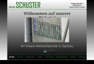 Bild Webseite Salon Schuster Dachau