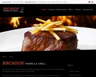 Bild Webseite ESCADOS Steakhouse Berlin