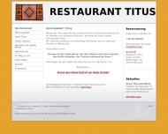 Bild Webseite Restaurant Titus Hannover