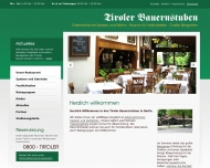 Website Tiroler Bauernstuben