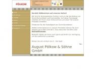Website Pölkow August & Söhne