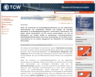 Website TCW Transfer Centrum für Produktions-Logistik u. Technologie-Management