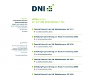 Bild Webseite DNI Beteiligungen Köln