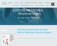 Bild Webseite Edition Metropol Musikverlage Köln