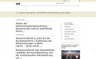 Bild Webseite Wissenschaftsrat Köln