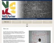 Bild Webseite Voß & Partner Stuttgart