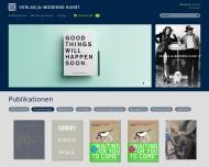 Bild Webseite Verlag für moderne Kunst Nürnberg Nürnberg