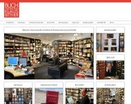 Bild Webseite Buchhandlung Klaus Bittner Köln
