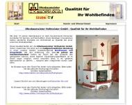 Website Hofmeister Gerhard Ofenbau