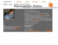 Website Hanspeter Höhn, freier Architekt