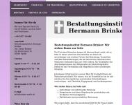 Website Bestattungen Brinker Holzwerkstatt