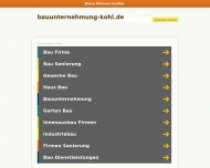 Website Bauunternehmung Kohl