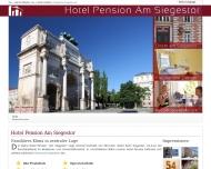 Bild Webseite Pension Am Siegestor München