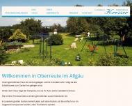 Bild Webseite Kresser Josef Gästehaus Oberreute