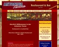 Bild Webseite Antonius-Tenne Gaststätten München