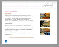 Bild Webseite Aquarello Restaurant München