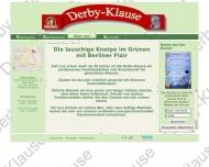 Website Gaststätte Derby-Klause