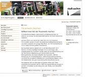 Bild Webseite Feuerwache Aachen