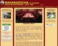 Bild Webseite Vedis Indisches Restaurant Cafe Cocktailbar Berlin