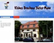 Bild Webseite Robert Schögler Kleines Brauhaus Dicker Mann München