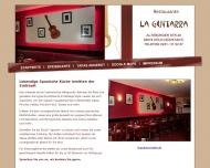 Bild Webseite La Guitarra Restaurant Köln