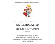 Bild Webseite Last Supper Gastronomie München
