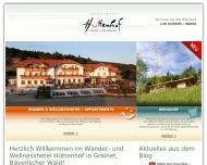 Bild Webseite Hotel Hüttenhof Grainet