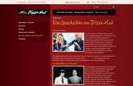 Bild Webseite Pizza Hut Restaurant Stuttgart
