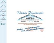 Bild Wanbau-Bedachungen-Dachabdeckungen-Abdichtungen-Bauklempnerei- Fassadenbau GmbH