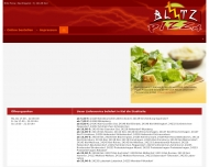 Bild Webseite Blitz Pizza Service Kiel