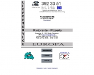 Bild Webseite Pizzeria Europa Berlin