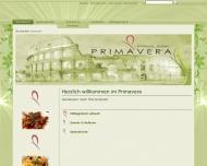 Bild Webseite Ristorante Pizzeria Primavera Pizzeria Kiel